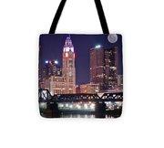 Columbus By Moonlight Tote Bag