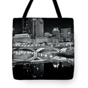 Columbus Ohio Black And White Tote Bag