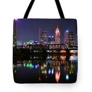 Columbus Ohio Reflecting In The Scioto River Tote Bag
