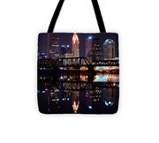 Columbus Ohio Reflecting On The River Tote Bag