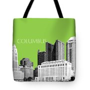 Columbus Ohio Skyline - Olive Tote Bag