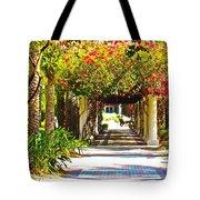 Column Flowers Tote Bag