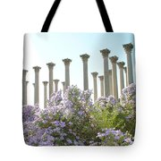Column Flowers To The Sky Tote Bag
