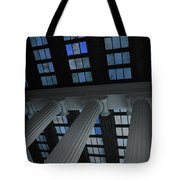 Column Stain Blue Tote Bag