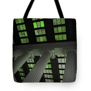 Column Stain Green Tote Bag