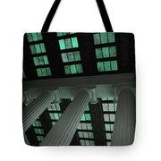 Column Stain Teal Tote Bag