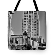 Columns And Skyscrapers Tote Bag