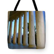 Columns At Jefferson Tote Bag by Megan Cohen