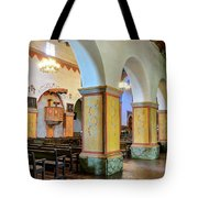 Columns At San Juan Bautista Mission Tote Bag