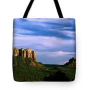 Colurt House Butte And Bell Rock Tote Bag