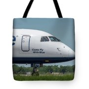 Come Fly With Blue Tote Bag
