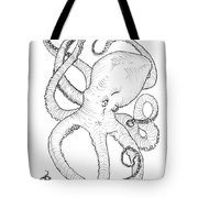 Come Let Me Give You A Hug Octopus Drawing Tote Bag