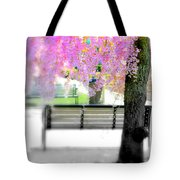 Come Sit By The Cherry Blossoms Tote Bag