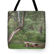 Come Sit With Me Awhile Tote Bag