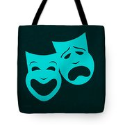 Comedy N Tragedy Aquamarine Tote Bag