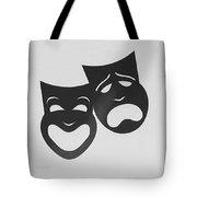 Comedy N Tragedy B W Tote Bag