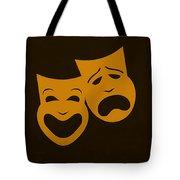 Comedy N Tragedy Black Orange Tote Bag