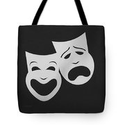 Comedy N Tragedy Black White Tote Bag