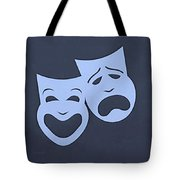 Comedy N Tragedy Cyan Tote Bag