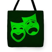 Comedy N Tragedy Green Tote Bag
