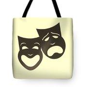 Comedy N Tragedy Neg Sepia Tote Bag