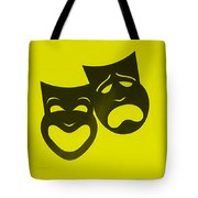 Comedy N Tragedy Neg Yellow Tote Bag