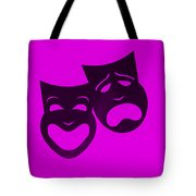 Comedy N Tragedy Purple Tote Bag
