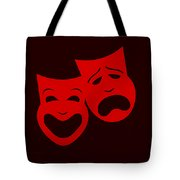Comedy N Tragedy Red Tote Bag