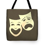 Comedy N Tragedy Sepia Tote Bag