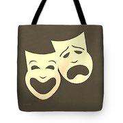 Comedy N Tragedy Sepia Tote Bag