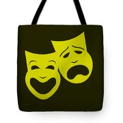 Comedy N Tragedy Yellow Tote Bag