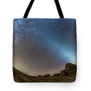 Comet Lovejoy And Zodiacal Light Tote Bag