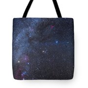 Comet Lovejoy In The Winter Sky Tote Bag