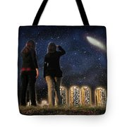 Comet Over The City Tote Bag