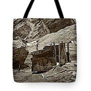 Comfort Station Sepia Tote Bag