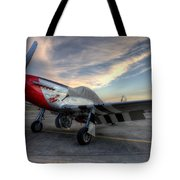 Comfortably Numb Buttoned Up For The Night At The Hollister Airshow Tote Bag
