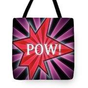 Comic Book Pow Tote Bag