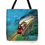 Coming Through The Tunnel Tote Bag