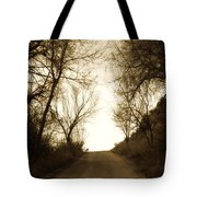Coming Up The Drive 3 Tote Bag