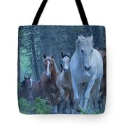 Coming Up The Hill Tote Bag