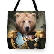 Commander Bear Tote Bag