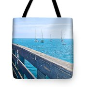 Commercial Pier On Monterey Bay-california  Tote Bag
