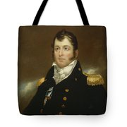 Commodore Oliver Hazard Perry Tote Bag by John Wesley Jarvis