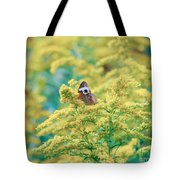 Common Buckeye Butterfly Hides In The Goldenrod Tote Bag