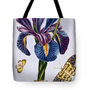 Common Iris With Butterflies Tote Bag