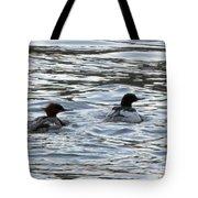 Common Merganzer Pair Tote Bag