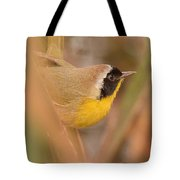 Common Yellow-throat In Hiding Tote Bag
