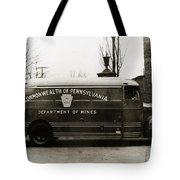 Commonwealth Of Pennsylvania  Coal Mine Rescue Truck 1947 Tote Bag