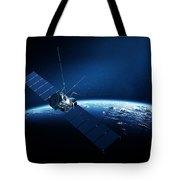Communications Satellite Orbiting Earth Tote Bag
