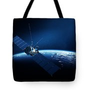 Communications Satellite Orbiting Earth Tote Bag